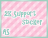 AS|2k Support Sticker