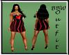 BBW RED Rainbow Dress