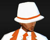 white hat with orange