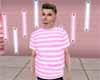 [JD] Pink Striped Tee
