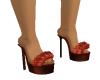 Orange Fur heels