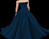Teal long designer dress