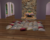 Slumber party pillows