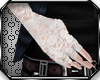 *D White Lace Gloves