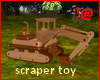 !@ Wooden toy scraper