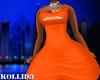 Orange friends dress