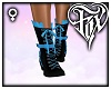 Bow Lace Boots - Blue