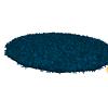 BLUE ROUND FUR RUG