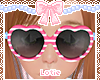 ♛Cutie Heart Glasses