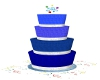 Blue 4 Tier Birthday Cak