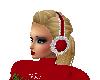 Furry Ear Muffs Red