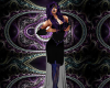 teal &black dress