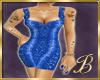 snake skin dress blue