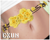 Cute Yellow Rose Belt