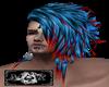 Blue red Hair