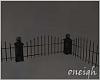 Dark Cemetery Fence