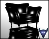 Black PVC chair reflctv