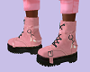 FG~ Pink Combat Boots