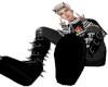 Skeleton goth boots