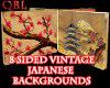 Vintage Japanese backdrp