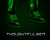 Leather Green Shoes