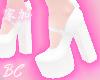 angel white bow heels