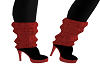 Ruched/Red/Black Boots