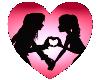 Love heart sticker