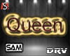 L red  Queen Head Sign