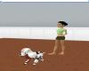 hearty walking puppy