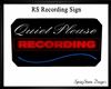 RS Recording Studio Sign