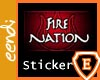 Fire Nation Sticker