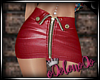 .L. Leather Skirt Red
