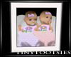 T. Twin Girls Framed