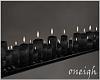 Black Glitter Candles