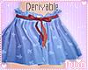 Kid Derivable Cute Skirt
