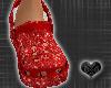 *CROCS Red Diamond Shoes