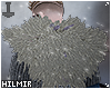 Grey Viking Fur Shrug
