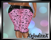 Pink Black Flower Capri