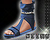 [W] Blue Sandals