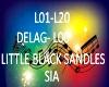 B.F LITTLE BLACK SANDLES
