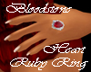 CC~ BLOODHEART RUBY RING