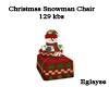 christmas snowman chair