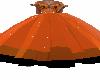Orange & Black Ball Gown