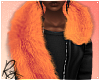 Peach Faux Fur Stole