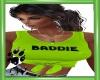 CW Baddie Lime Tie Top