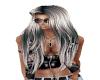 Hair SilverBlack Liz 22
