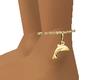 Golden Dolphin Anklet