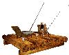 wood fishing raft