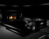 """BLK WOLF SOFA/FIREPLACE"
